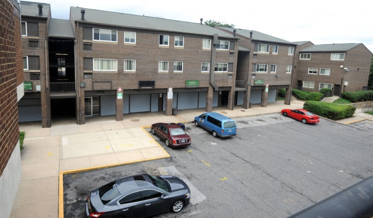 """Madison Park-North, a troubled Reservoir Hill property that came to be known as '""""Murder Mall,"""" will be demolished under an agreement that left some residents relieved, but others worried about where they''ll go. (Algerina Perna / 2007 Baltimore Sun photo)"""