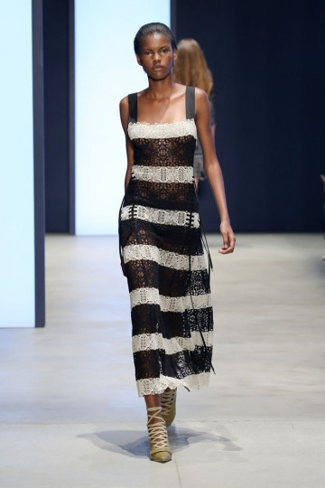 A model walks the runway wearing Derek Lam Spring 2016 during New York Fashion Week: The Shows at The Gallery, Skylight at Clarkson Sq on September 13, 2015 in New York City. (Neilson Barnard/Getty Images for NYFW: The Shows)