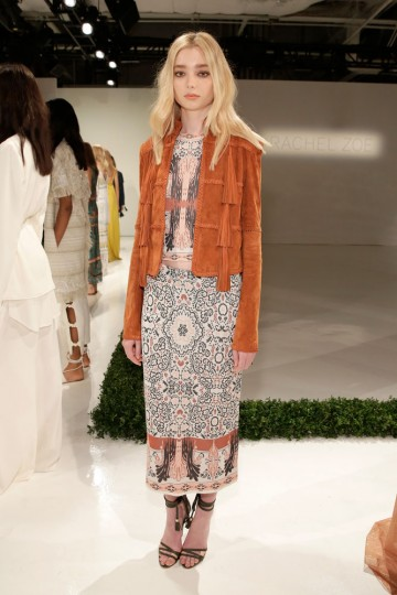 A model poses wearing Rachel Zoe Spring 2016 during New York Fashion Week: The Shows at The Space, Skylight at Clarkson Sq on September 13, 2015 in New York City. (JP Yim/Getty Images for NYFW: The Shows)
