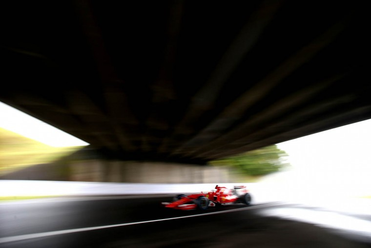 Sebastian Vettel of Germany and Ferrari drives during practice for the Formula One Grand Prix of Japan at Suzuka Circuit on September 25, 2015 in Suzuka. (Mark Thompson/Getty Images)