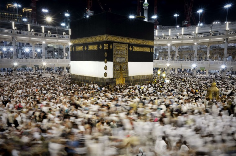 Muslim pilgrims circle counterclockwise Islam's holiest shrine, the Kaaba, at the Grand Mosque in the Saudi holy city of Mecca, late on September 20, 2015. The annual hajj pilgrimage begins on September 22, and more than a million faithful have already flocked to Saudi Arabia in preparation for what will for many be the highlight of their spiritual lives. (AFP Photo/Mohammed Al-shaikh)