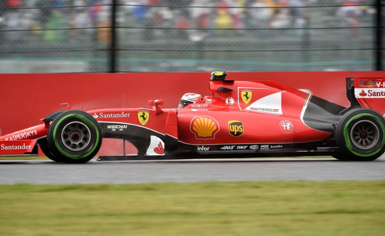 Ferrari driver Sebastian Vettel of Germany drives his car during the second practice session of the Formula One Japanese Grand Prix at the Suzuka circuit on September 25, 2015. (Kazuhiro Nogi/Getty Images)