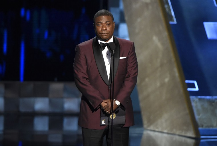 Tracy Morgan presents the award for outstanding drama series at the 67th Primetime Emmy Awards on Sunday, Sept. 20, 2015, at the Microsoft Theater in Los Angeles. (Photo by Chris Pizzello/Invision/AP)