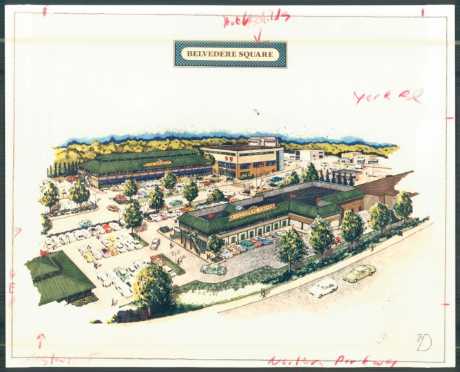 Renderings for Belvedere Square. (Baltimore Sun archives)