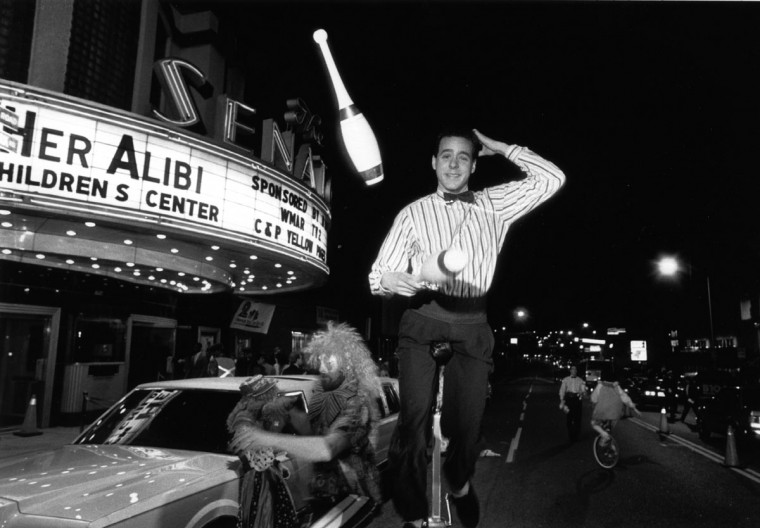 """1989 - Alex Karvounis, of """"Double Trouble"""" fame, was one of many performers on hand for the opening of """"Her Alibi"""" at The Senator Theatre. (Kim Hairston/Baltimore Sun)"""
