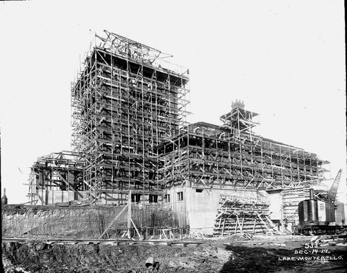 A view of the construction of the Montebello Filtration Plant. (Photo courtesy of the Baltimore Department of Public Works)