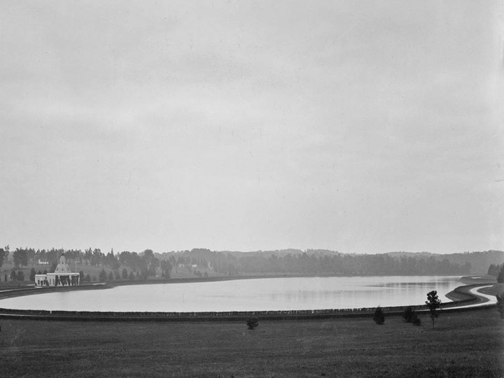 A view of Lake Montebello, circa 1912. (Photo courtesy of the Baltimore Department of Public Works)