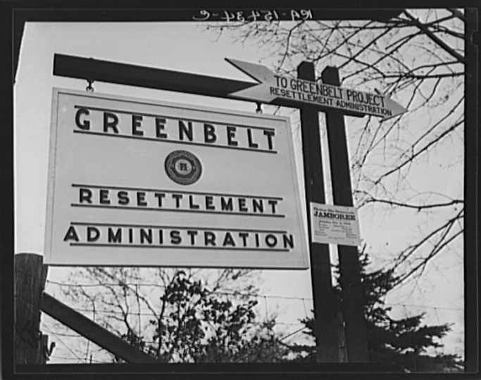 Sign on Baltimore Pike, Maryland. (February 1937)