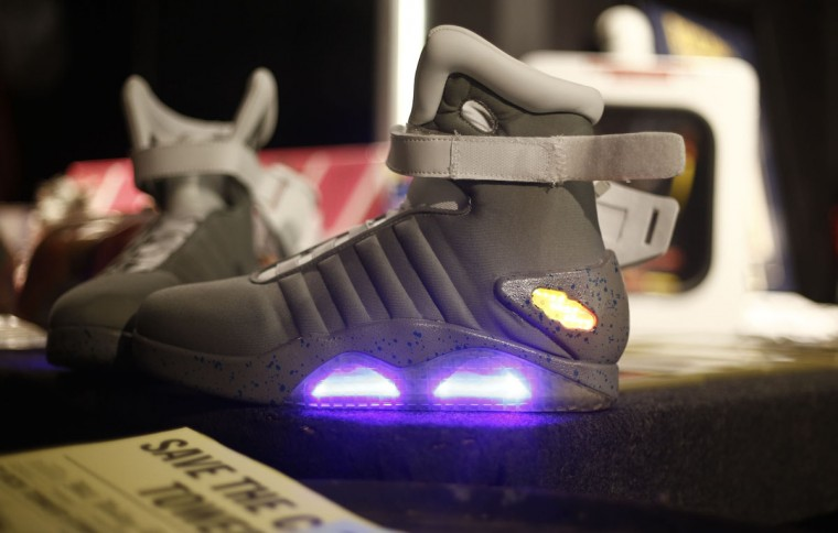 """Miniature toys are displayed during a celebration event of the 30th anniversary of the movie """"Back to the Future"""" in Sao Paulo, Brazil on October 17, 2015. (AFP Photo/Miguel Schincariol)"""