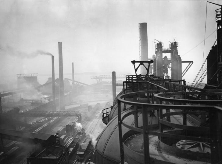 1939 - Bethlehem Steel Company's Sparrow Point plant. (A. Aubrey Bodine/Baltimore Sun)