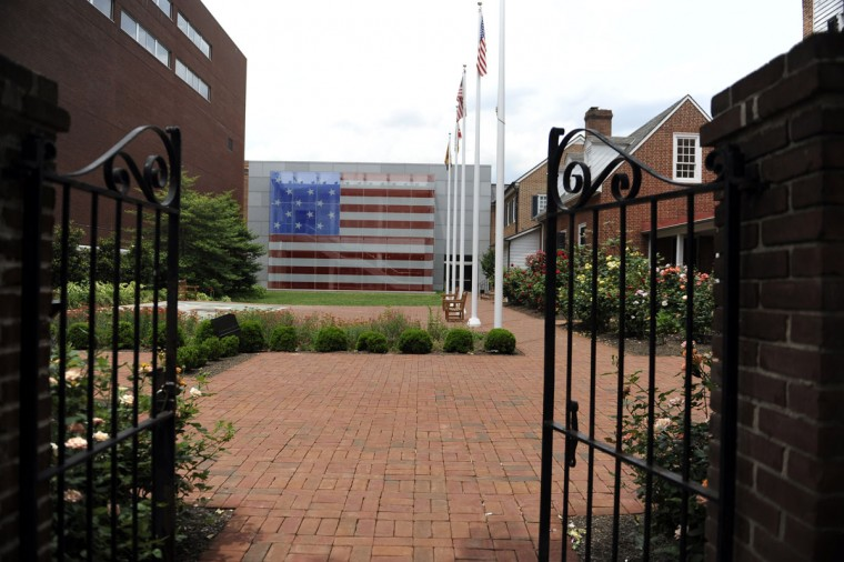 This is a view of the front gate at the Star Spangled Banner Museum and Flag House on June 3, 2014. (Baltimore Sun photo by Barbara Haddock Taylor)