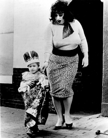 "Divine is led to spiritual enlightenment by a holy child in John Waters' ""Multiple Maniacs."" (Handout photo)"