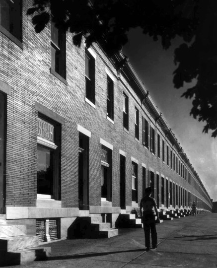 1952 - The 2600 block of Wilkens Ave., is the longest row of houses in Baltimore. (A. Aubrey Bodine/Baltimore Sun)