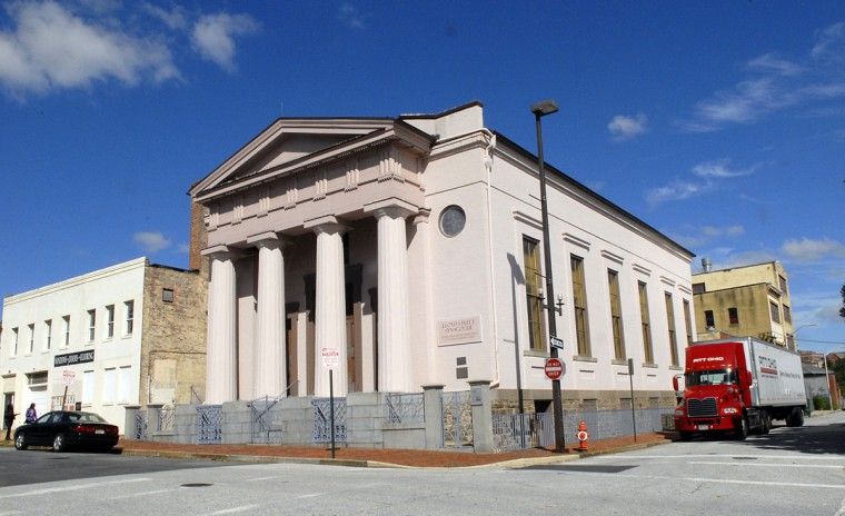 The Lloyd Street Synagogue on 15 Lloyd Street is pictured on Oct. 5, 2015. The Lloyd Street Synagogue was built in 1845 by the Baltimore Hebrew Congregation. It was the first synagogue erected in Maryland, and today it is the third-oldest standing synagogue in the U.S. (Photo by Chiaki Kawajiri for The Baltimore Sun)
