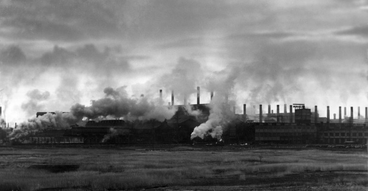 1936- Bethlehem Steel Company: Sparrows Point. (A. Aubrey Bodine/Baltimore Sun)