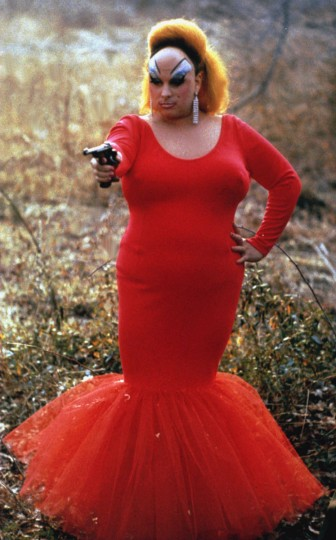 "Divine as Babs Johnson in ""Pink Flamingos,"" a film by John Waters. A Fine Line Features release. (Lawrence Irvine/Fine Line Features)"