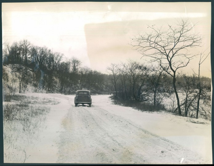 Cherry Hill's site for Middle Branch Park is pictured on Jan. 29, 1940. (Baltimore Sun photo)