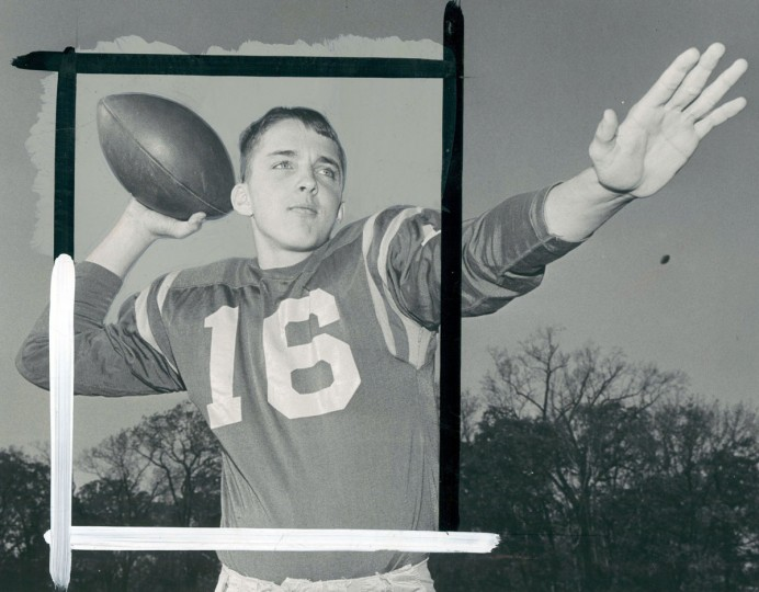 Loyola High School football player Ed Maguire, 1965. (Baltimore Sun archives)