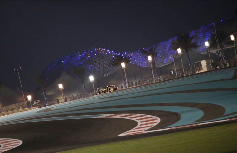 Lotus F1 Team's French driver Romain Grosjean drives during the second practice session at the Yas Marina circuit in Abu Dhabi on November 27, 2015 ahead of the Abu Dhabi Formula One Grand Prix. (KARIM SAHIB/AFP/Getty Images)