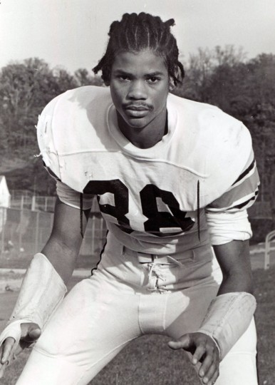 Rod Monroe of Poly. Rod didn't follow the normal path to success in high school football. Studies came first when he was a sophomore at Poly and didn't play football. (Paul Hutchins/Baltimore Sun, 1973)