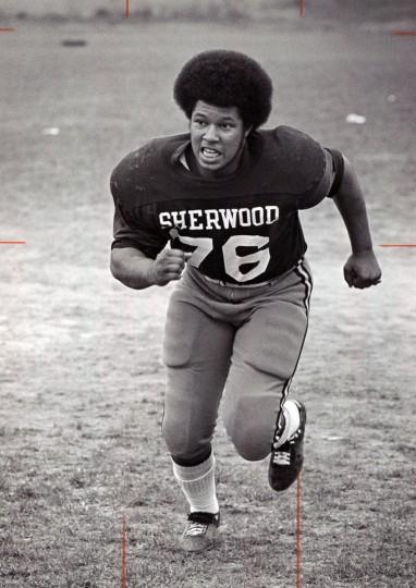 Wayne Parrott, linebacker for Sherwood. (Paul Hutchins/Baltimore Sun, 1971)