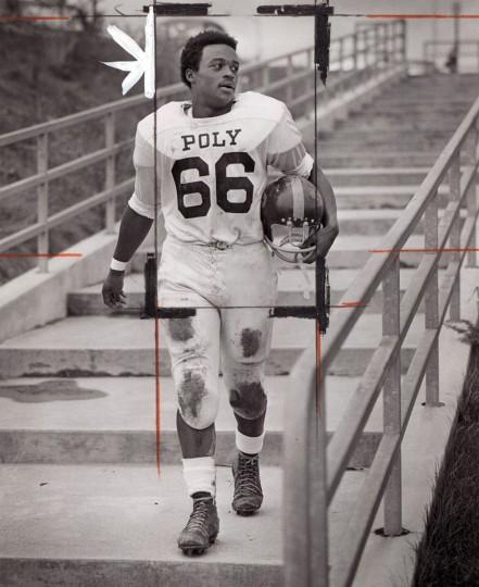 Larry Jones, running back for Poly. (Paul Hutchins/Baltimore Sun, 1970)