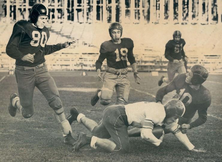 Patterson Park High School football. (Richard Stacks/Baltimore Sun, 1953)