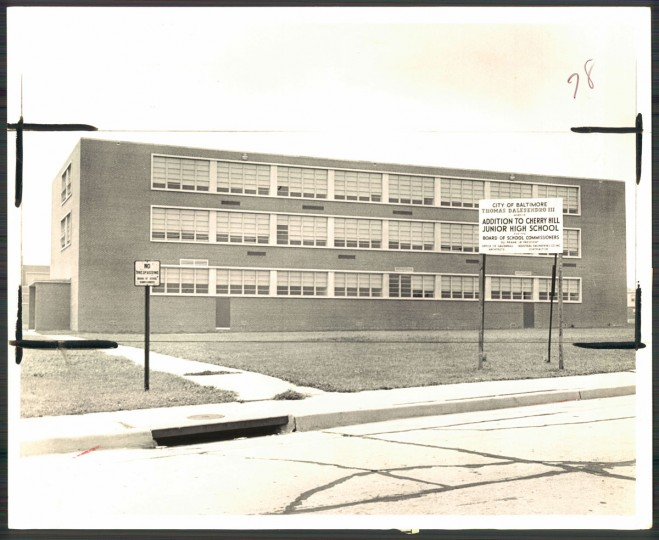 Additions were planned for Cherry Hill Junior High School on August 22, 1968. (Baltimore Sun photo by William H. Mortimer)