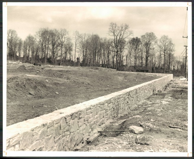The site of what would become Cherry Hill James High School on Nov. 23, 1954. (Baltimore Sun photo by Frank Kalita)