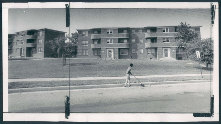 Constructed in 1945, these public housing units were the first constructed in Cherry Hill. (Baltimore Sun photo by Richard Childress, Aug. 8, 1971)