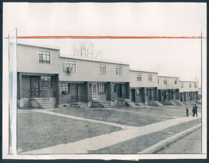Homes in Cherry Hill are pictured on Feb. 25, 1983. (Baltimore Sun photo by Walter M. McCardell)