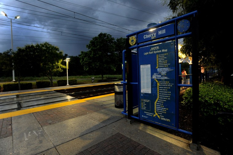 The Cherry Hill light rail stop at 1700 Cherry Hill Road is pictured on May 29, 2012. (Gene Sweeney Jr. / The Baltimore Sun)