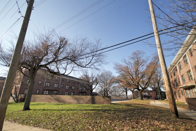 The entry point to Cherry Hill's public housing. It's one of the most densely populated public housing area in the country. (Kalani Gordon/Baltimore Sun)