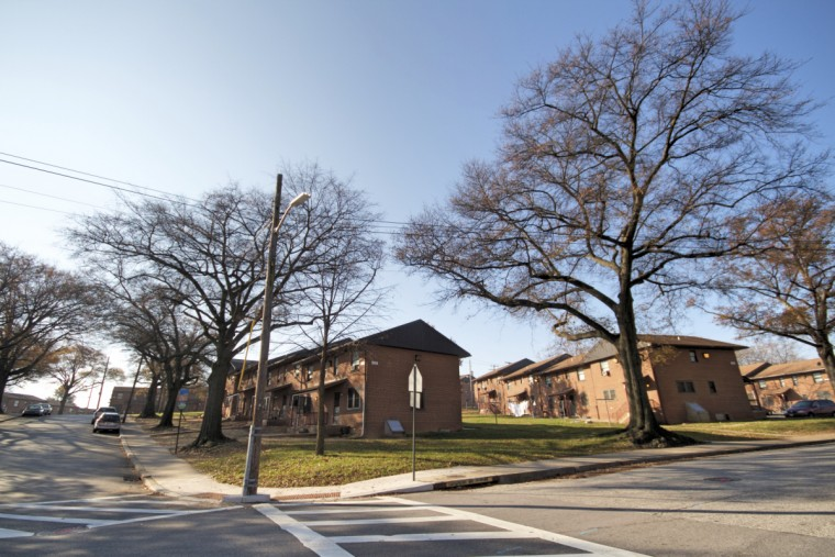 Public housing in Cherry Hill. (Kalani Gordon/Baltimore Sun)