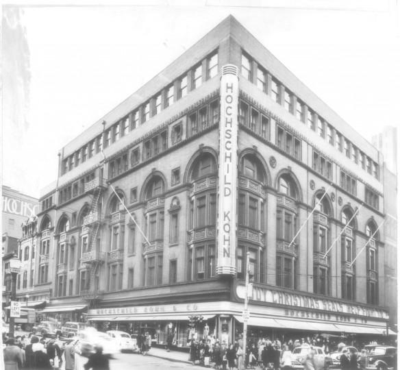 Hochschild Kohn Co. Building. 1951. (Baltimore Sun archives)