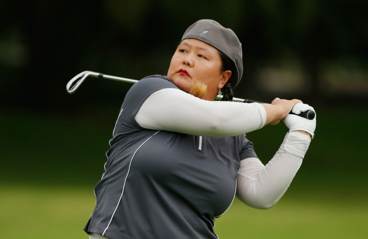 Christina Kim of the United States hits her second shot on the fourth hole during the third round of the Lorena Ochoa Invitational Presented By Banamex at the Club de Golf Mexico on November 14, 2015 in Mexico City, Mexico. (Scott Halleran/Getty Images)