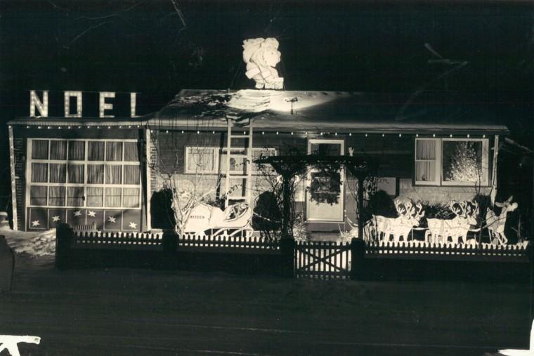 Franz Kardos decorated his home int he true spirit of Christmas. (Richard Childress/Baltimore Sun, 1962)