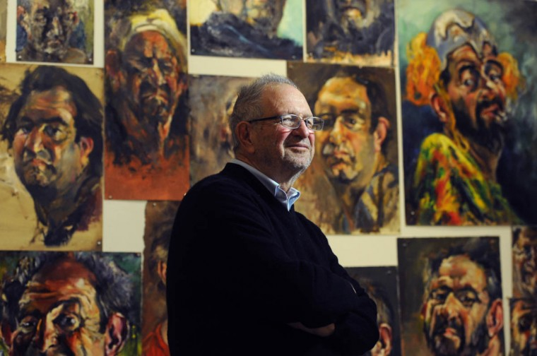 Baltimore artist Raoul Middleman will have an exhibition of more than 50 years of his self-portraits January 30 in MICA's Meyerhoff Gallery located in the Fox Building. (Kim Hairston/Baltimore Sun)