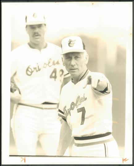 Cal Ripken Sr. is pictured on Nov. 3, 1987. (Baltimore Sun photo)