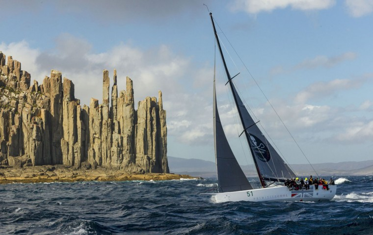 This handout photo from Rolex taken on December 29, 2015 shows RP51 yacht Primitive Cool during the Sydney to Hobart yacht race. (STEFANO GATTINI/AFP/Getty Images)