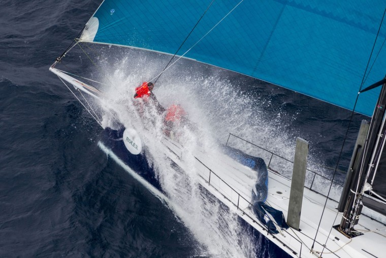 In this handout photo from Rolex, Supermaxi yacht Black Jack competes in the Sydney to Hobart yacht race in Sydney on December 26, 2015. (STEFANO GATTINI/AFP/Getty Images)