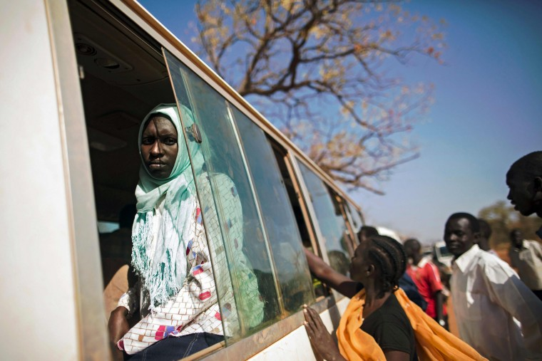 A bus departs from Ajuong Thok refugee camp in South Sudan, less than 100 kms away from the border with Sudan, on January 28, 2016. The bus will travel to Yida, the last village in South Sudan, before eventually crossing the border. Sudan ordered the reopening of the country's contested borders with South Sudan. Relations between Juba and Khartoum had been tense since South Sudan's secession split in 2011 under a peace deal that ended a bloody 22-year civil war, with disputes over several areas along the border. (Albert Gonzalez Farran/AFP/Getty Images)