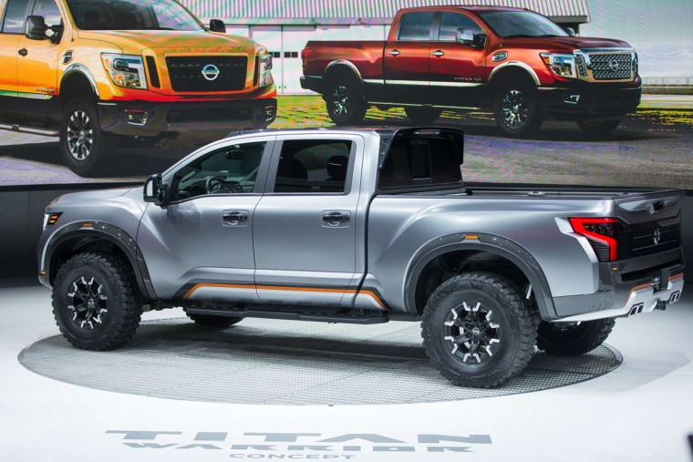 The Nissan Titan Warrior Concept vehicle is unveiled during the press preview at the 2016 North American International Auto Show in Detroit, Michigan, January 12, 2016. (GEOFF ROBINS/AFP/Getty Images)