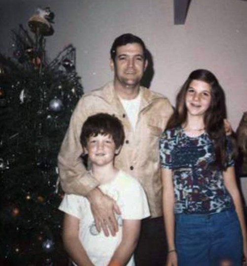 This Dec. 25, 1972 photo provided by June Scobee Rodgers shows her late husband, Dick Scobee and their children, and Rich and Kathie. On the 30th anniversary of the space shuttle Challenger accident, June Scobee Rodgers, longtime spokeswoman for the families of the lost astronauts is passing the torch to daughter Kathie Scobee Fulgham. Fulgham, not Rodgers, will be on the speaker platform for the ceremony on Thursday, Jan. 28, 2016. (Courtesy June Scobee Rodgers via AP)