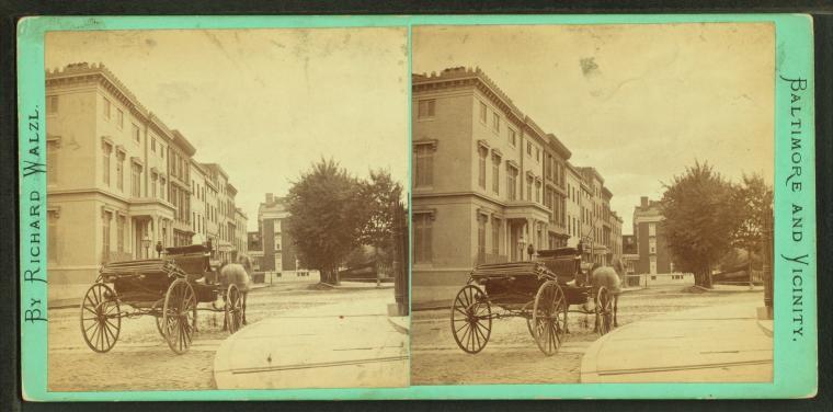 Mt. Vernon Place, southwest from Washington Monument, circa 1880