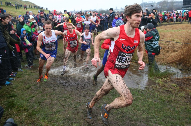 Garret Heath of the United States competes in the Men's 8km race during the Great Edinburgh X Country in Holyrood Park on January 09, 2016 in Edinburgh, Scotland. (Ian MacNicol/Getty Images)