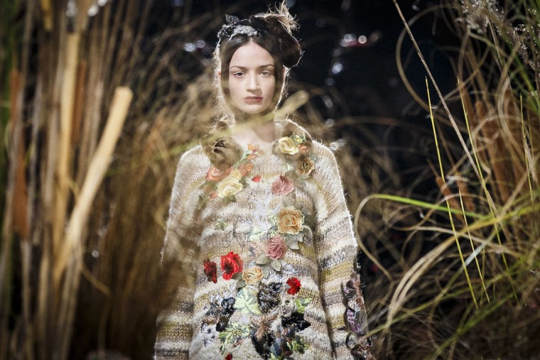 A model walks the runway at the Antonio Marras fashion show during Milan Fashion Week Fall/Winter 2016/17 on February 27, 2016 in Milan, Italy. (Photo by Tristan Fewings/Getty Images)