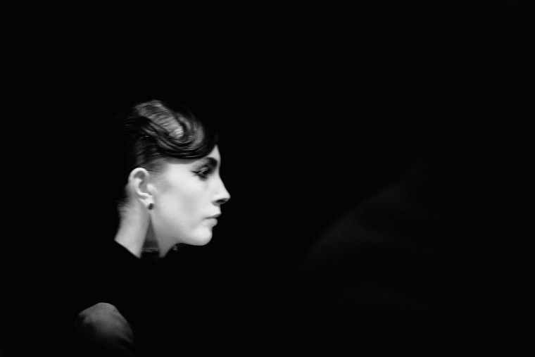 A model is seen backstage ahead of Emporio Armani show during Milan Fashion Week Fall/Winter 2016/17 on February 26, 2016 in Milan, Italy. (Photo by Vittorio Zunino Celotto/Getty Images)