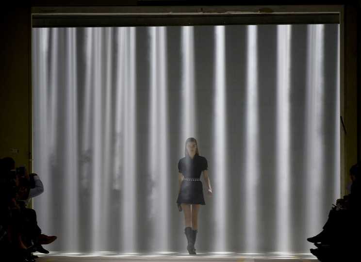 A model wears a creation for Diesel Black Gold women's Fall-Winter 2016-2017 collection, part of the Milan Fashion Week, unveiled in Milan, Italy, Friday, Feb. 26, 2016. (AP Photo/Luca Bruno)