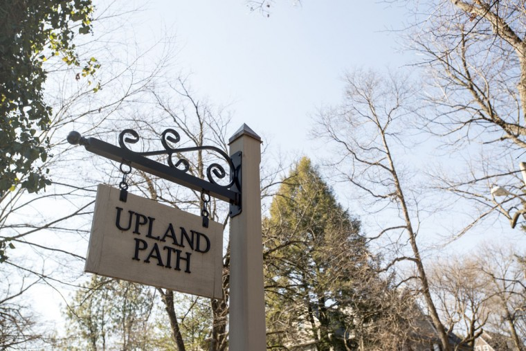 Upland Path, one of the many neighborhood trails in Roland Park. (Emma Patti Harris/Baltimore Sun)
